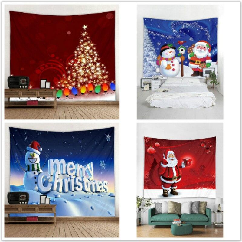 2018 Xmas Art Home Wall Hanging Tapestry Wall Ornamentation Christmas Wall Decor