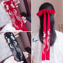 Embroidery Flower Peacock Phoenix Hair Bands Retro Hair Jewellery Traditional Chinese Clothing Accessories Head Rope Ornaments цена 2017