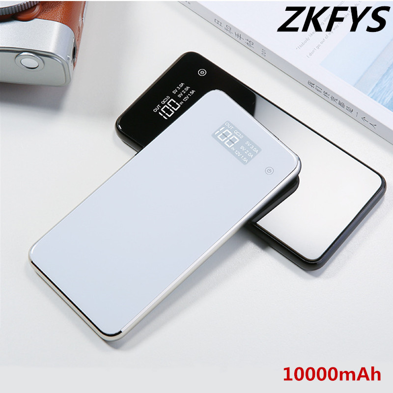 ZKFYS Power Bank 10000mAh Powerbank USB External Battery Pack For iPhone 6 6s 7 8 10 iPad Samsung LG Xiaomi Huawei Sony Nokia