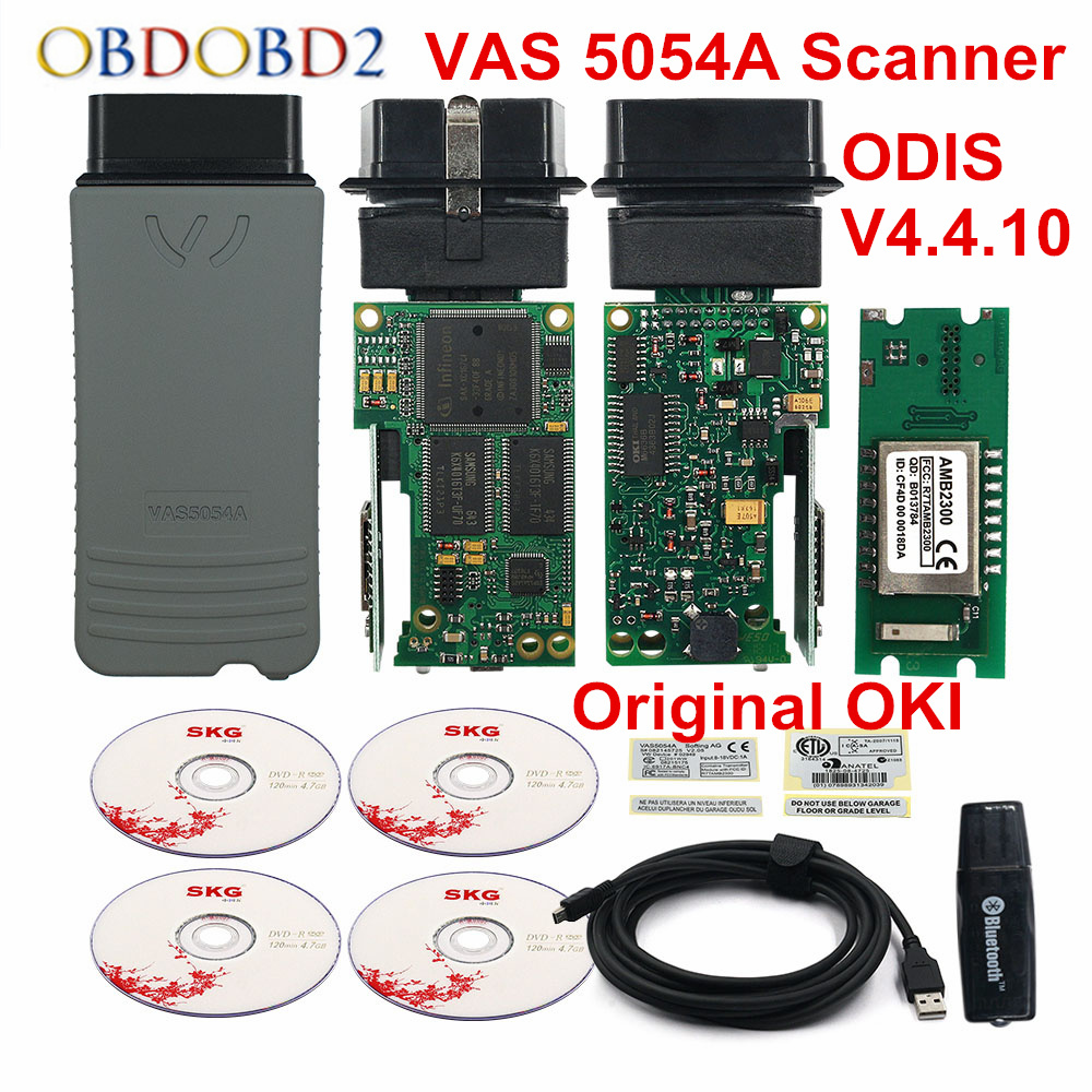 Bluetooth VAS5054A OKI Diagnostic Tool ODIS V4.4.10 VAS 5054 Full Chip Scanner Update of ODIS V4.3.3 Support VAG VAS Series Car