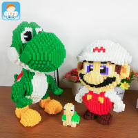 Xizai Big size connection Blocks Luigi Cartoon Assembly Building Toys Anime Model Toy brinquedo Mario Juguete Kids Toy Xmas Gift