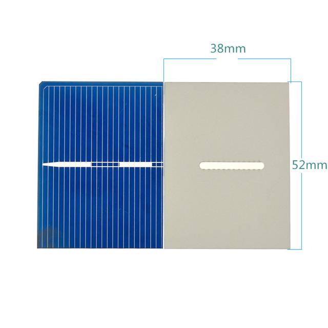 Aoshike 40Pcs Solar Panel Polycrystalline Silicon Solar Cells DIY Flexible Battery Charger Poly 52x38MM 0.3W