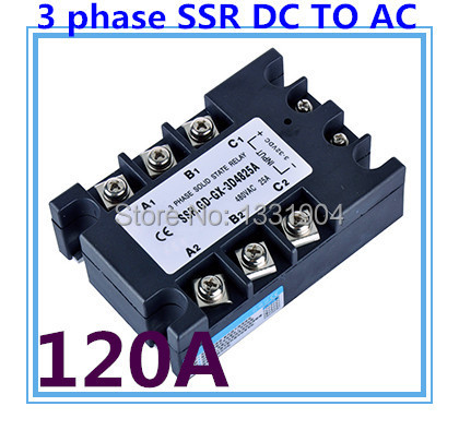 good quality DC to AC SSR-3P-120 DA 120A SSR relay input DC 3-32V output AC480V Three phase solid state relay цены онлайн