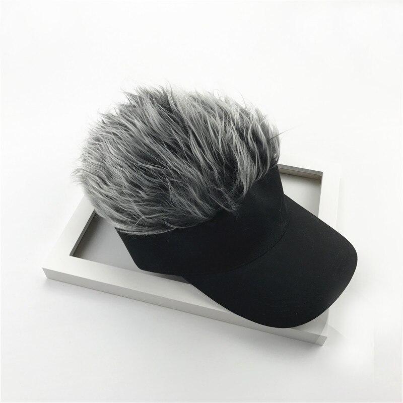 Novelty Adjustable Visor With Spiked Hair Joke Gag Visor