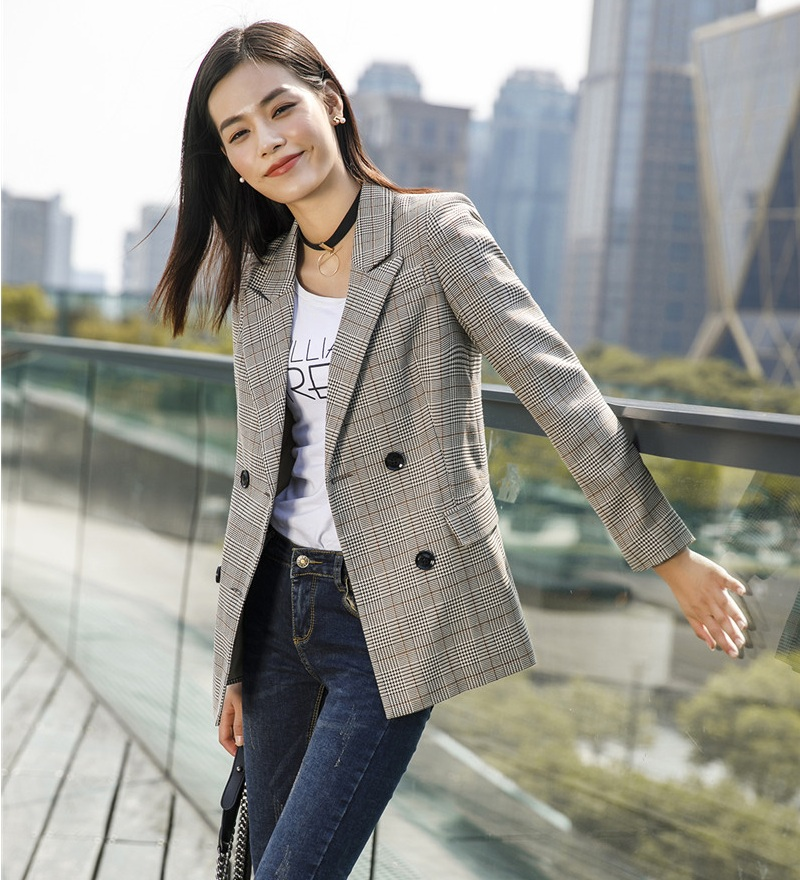 New 2019 Fall Fashion Casual Women Outerwear Coats Grey ...