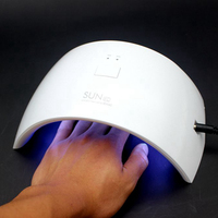 Professional 24W Fast Curing LED UV Lamp Nail Dryer Fit Nail Gel Polish Art Tools Machine SUN 9C Gels Polish Beauty Nail Salon