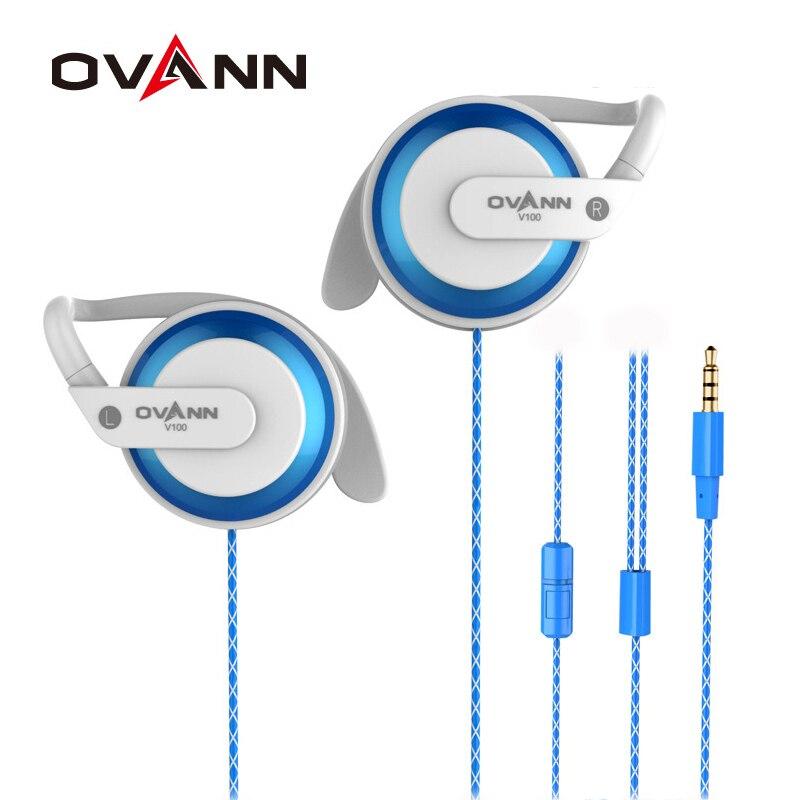 Ovann V100 In-ear Earphone Headphone Ear-hook Headset Mega Bass Wire Control with Microphone Sport Headphones in ear earphone 100