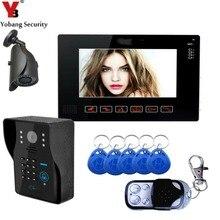 YobangSecurity 9″Video Door Phone Doorbell Intercom System With RFID Card Password KeyPad Rainproof With CCTV Outdoor Camera