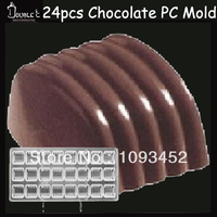 Wave Chocolate Clear Polycarbonate Plastic Mold,2.8x2.5x1.8cm*12cups DIY Handmade Chocolate PC Mold,Chocolate Tools,Good Quality