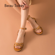 BeauToday Gladiator Sandals Women Genuine Cow Leather Cross-