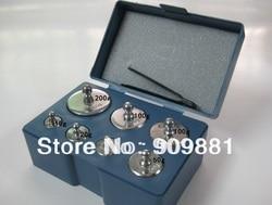 Balance d'étalonnage de précision pour bijoux, ensemble de poids 200g 100g 50g 20g 10g 5g, 7 pièces au Total 500g