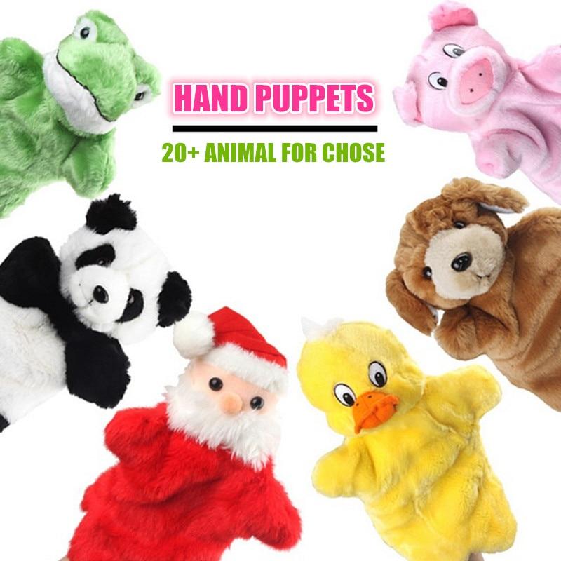 Djurhänder Dockor Mjuka Handdukar Barn Dollpussar Leksaker För Barn Brinquedo Marioneter Fantoche Leksaker