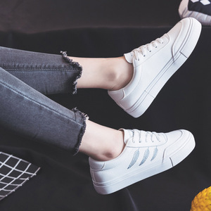 Image 3 - Shoes Woman New Fashion Casual High Platform PU Leather Women Casual White Platform Shoes Breathable Sneakers Womens Shoes