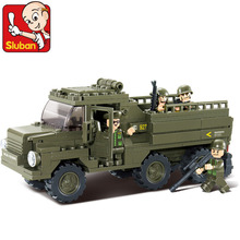 Sluban model building kits compatible with lego city army 583 blocks Educational model & building toys hobbies for children