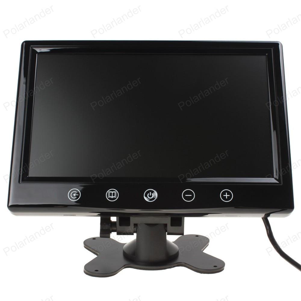 Auto monitor kleine display 9 inch digital Color TFT LCD mit 2 Video eingang lcd für parken backup hinten view kamera