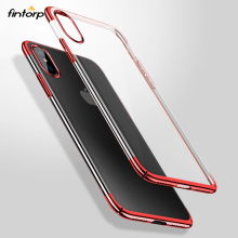 Plating Transparent Case For iPhone 7 8 Cases for iPhone 5S 5 6S 6 7 8 Plus X Cover Clear Protective Cover for iPhone XR XS Max laser person pattern protective abs back case for iphone 5 5s transparent silver