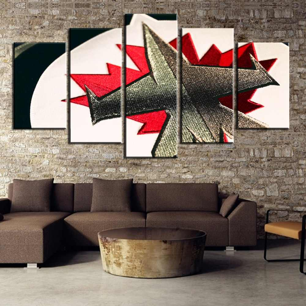 New 5 Piece Ice Hockey Logo Sport Wall Picture Cuadros Decoracion Paintings on Canvas Wall Art for Home Decorations Wall Decor