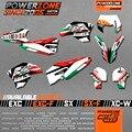 Itália Versão Equipe de Gráficos & Fundos Decalques 3 M Adesivos Kit de SEIS DIAS para KTM EXC SX 2008-2016 SXF 2007-2017 Frete Grátis