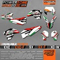 Italy Version Team Graphics & Backgrounds Decals 3M Stickers SIXDAYS Kit For KTM EXC 2008 -2016 SX SXF 2007 -2017  Free Shipping