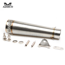 36-51MM Motorcycle Universal Exhaust Pipe Muffler FOR yamaha mt07 yz 125 r25 mt 09 tracer R1 2004 2006 2007 2008 2009 2010-2015 цена и фото