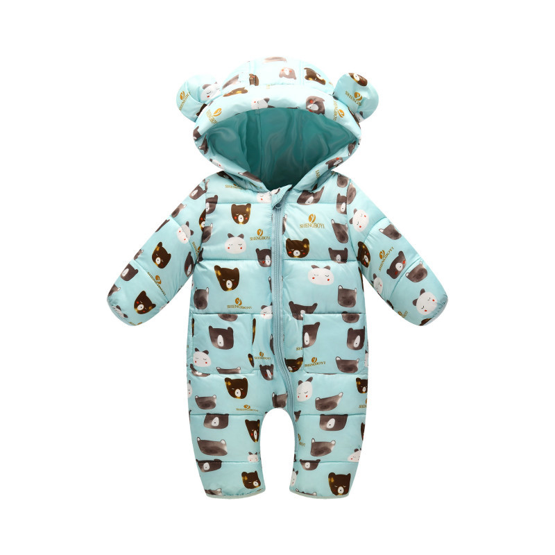 3-12M Baby Autumn & Winter Newborn Romper Girls Infants Climb Clothes Children Cotton Overalls Boys Long Sleeve Hooded Romper maggie s walker baby boys and girls clothes toddler pure cotton jumpsuit kids romper children spring autumn winter long sleeve