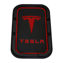 PVC Phone Anti Slip Mat Holder Support Bracket Mount for Tesla Model S Model X 75D 90D P100D Interior Mat Holder Accessories HQ цена