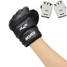 лучшая цена Half Fingers Kids/Adults Sandbag Punch Training Kick Boxing Gloves Sanda/Karate/Muay Thai/Taekwondo Protector