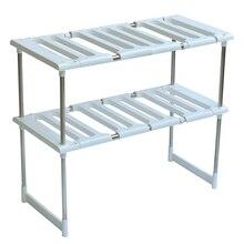 Fregadero del acero inoxidable retráctil horno microondas cocina de  almacenamiento estante del pote capa marco LU4182 d44867f21a03