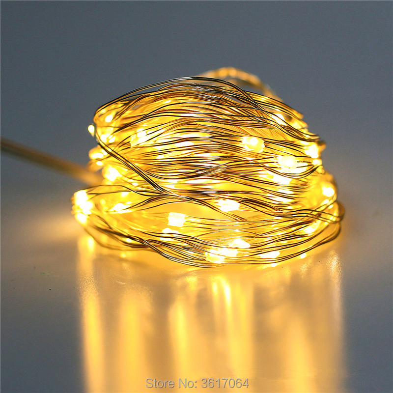 LED color lamp, 5 meter 50 lamp, 3 line USB, telecontrol copper wire lamp, outdoor garden decoration on Christmas Day