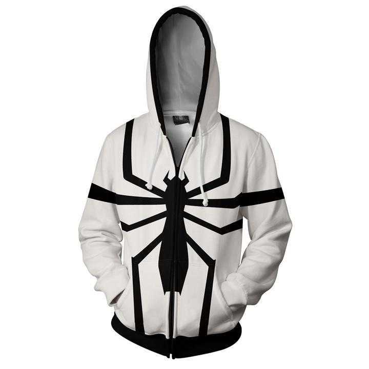 Venom Spider Cosplay Costume 3D Printed Hoodie Jacket Men's Autumn Winter Sweatshirt Zipper Coat