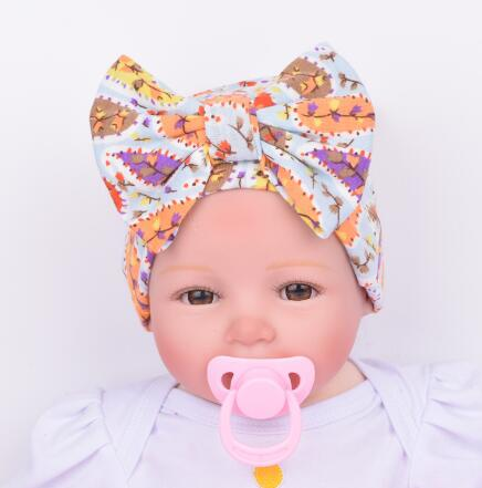 Women And Children Energetic 5pcs/lot Hospital Cap Newborn Hat Baby Girl Beanie With Big Bowknot Newborn Knit Infant Flower Caps Baby Toddler Hat 4 Colors Suitable For Men