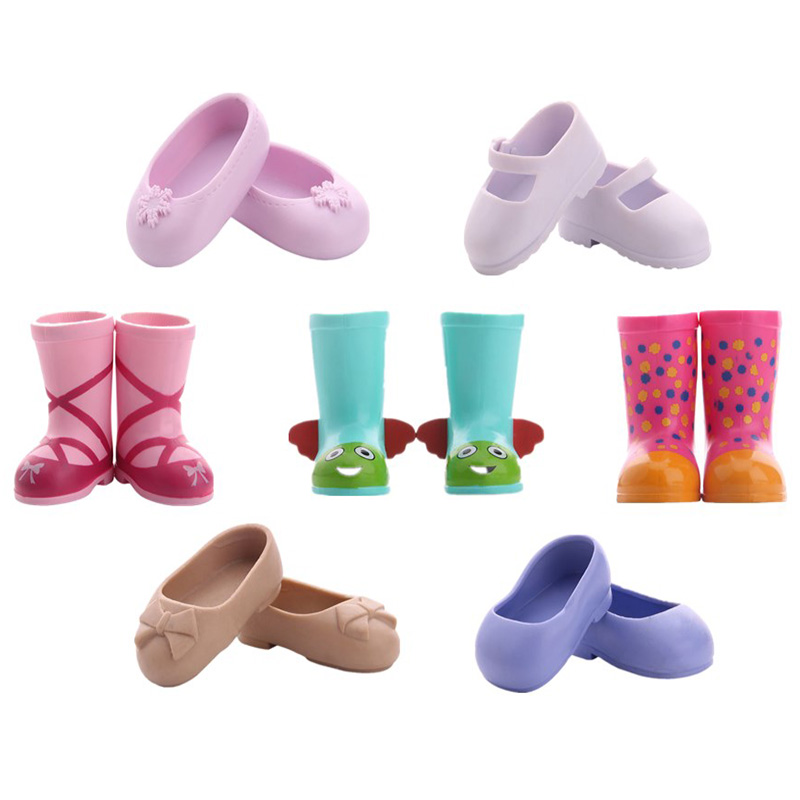 Fleta Free Shipping 7 Differents Shoes 14.5 Inch  Wellie Whishers Shoes Doll Toy (Only Shoes)