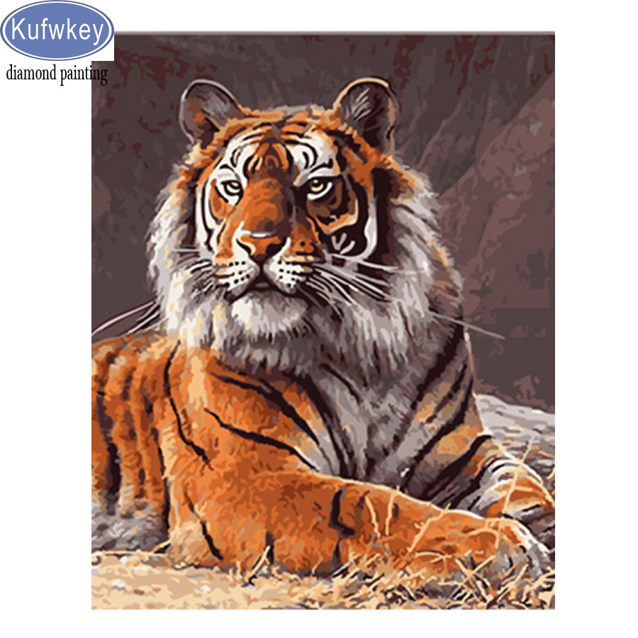 Tiger DIY 5D Square Full Drill Diamond Painting Embroidery Cross Stitch Kit Deco