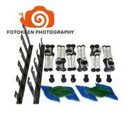 Новинка 2017 года поступление Фото студийное оборудование 6 ролики руководство стены/потолочное крепление, шестиосные руководство Фон Подде