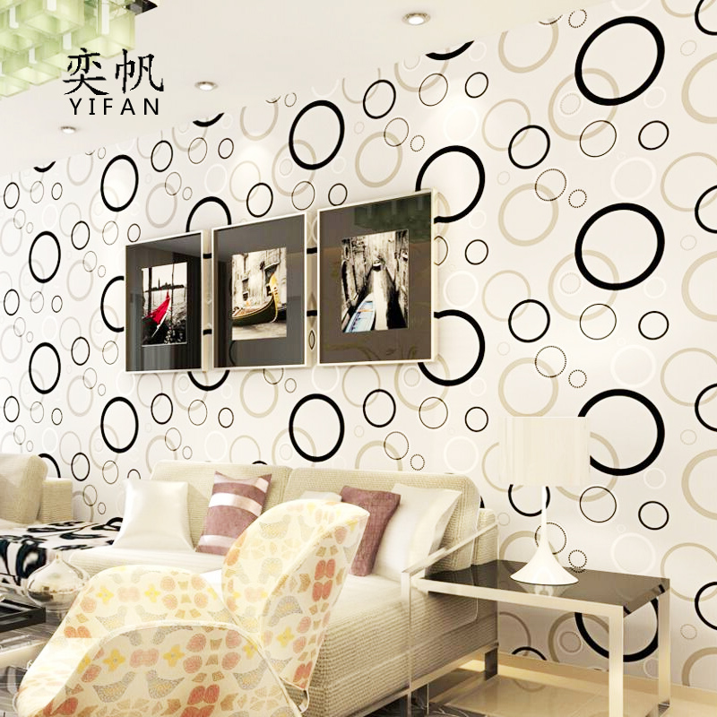 1m Modern Black White Circle Self Adhesive Wallpaper For Bedroom Home Decor 3d Wall Paper