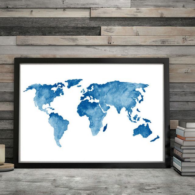 Nordic style world map poster print minimalist wall art canvas nordic style world map poster print minimalist wall art canvas painting landscape picture home decor gumiabroncs Choice Image