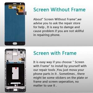 Image 5 - فانكا 5.5 بوصة AMOLED ل Oneplus 3 ثلاثة A3000 A3003 شاشة الكريستال السائل مجموعة المحولات الرقمية لشاشة تعمل بلمس 1080*1920 أداة غلاسفيلم الحرة