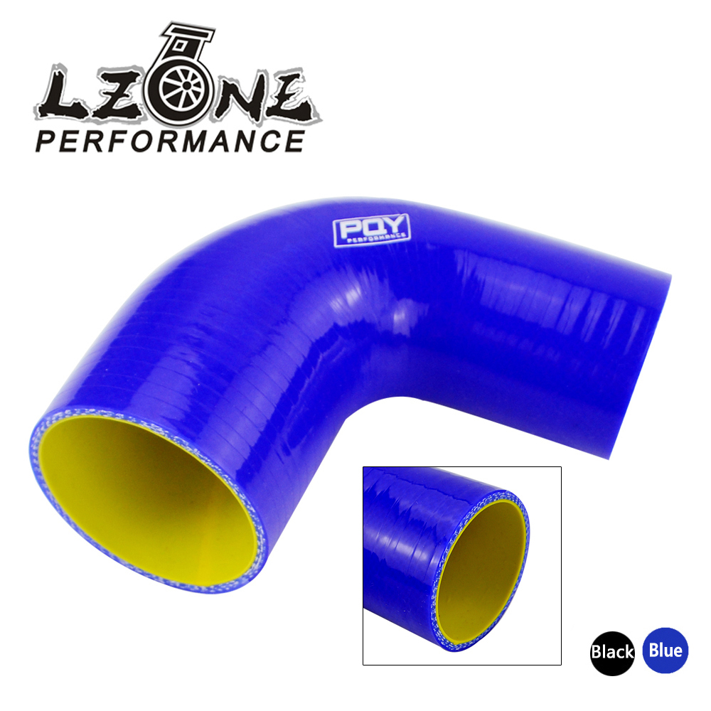 """clamps BLUE 2/"""" to 2.5/"""" 51mm 63mm Silicone 90 Degree Elbow Reducer Pipe Hose"""