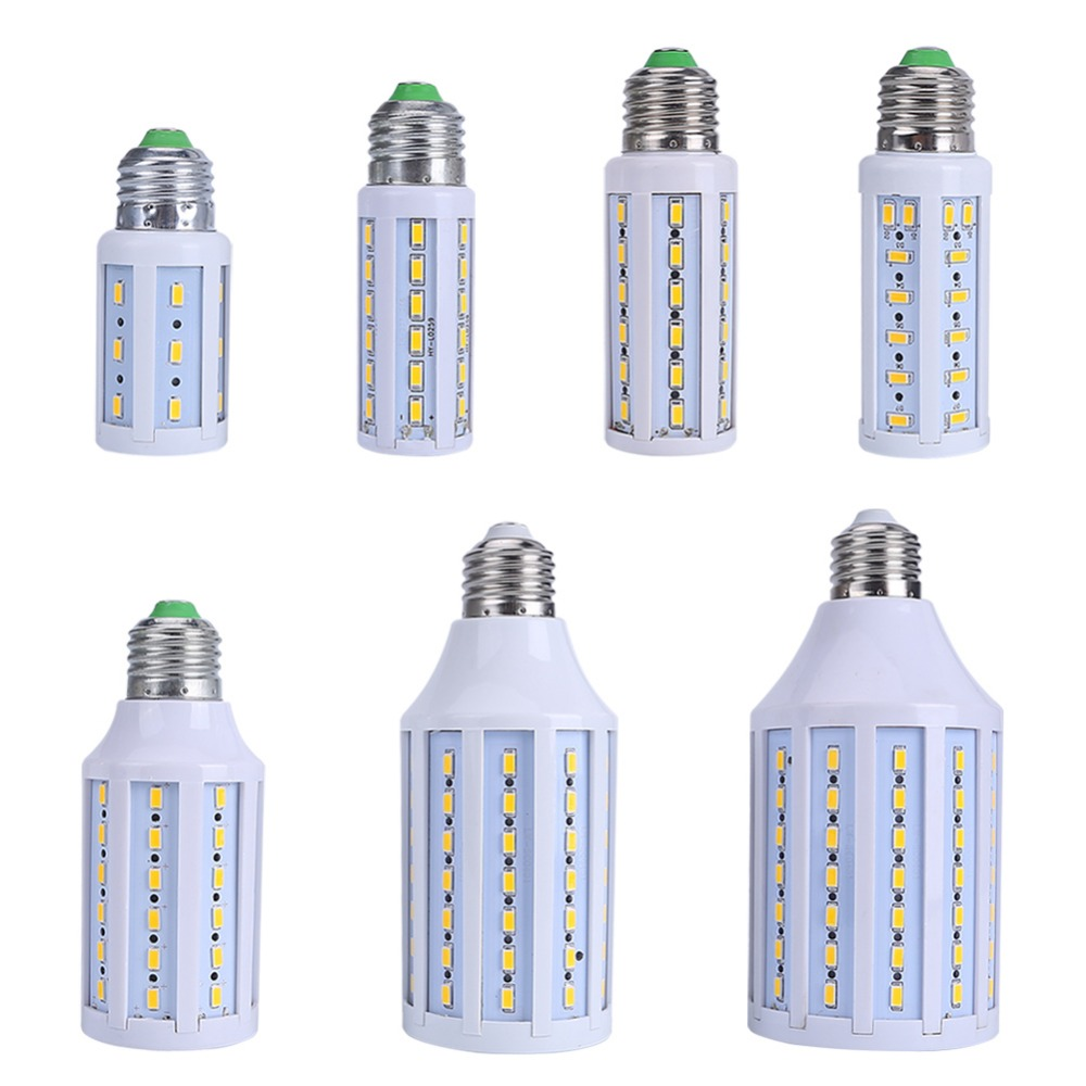 7W 9W 10W 15W 25W LED Lamp 5630 SMD E27 E14 LED Bulb 220V 110V Energy Saving LED Corn Light Lampada Cold/Warm White e27 25w ac220v 240v 98pcs 5730smd warm white led corn light