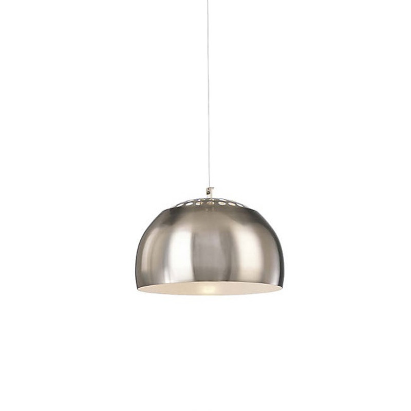 ФОТО P861 Pendant Lights Chrome Aluminum Pendant Lamp Half Ball Lighting Fixtures Suspension For Living Room Bedroom Bar PL176