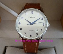 38mm Parnis Sapphire Crystal Japanese 21 jewels Automatic Self-Wind Movement Mechanical watches 5Bar Men's watches 227AA