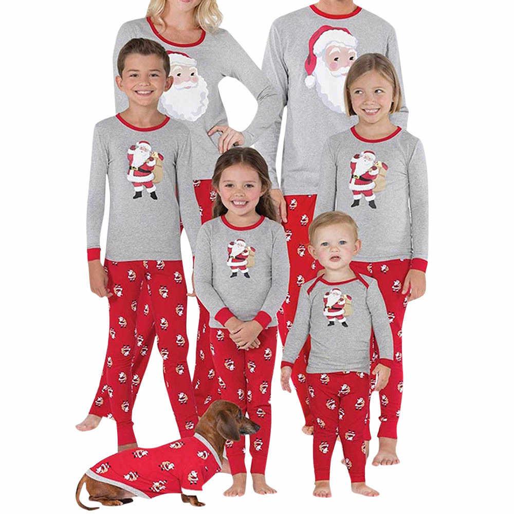 df33219631 Family Christmas Pajamas Set Warm Adult Kids Girls Boy Mommy Sleepwear  Nightwear Mother Daughter Clothes Matching