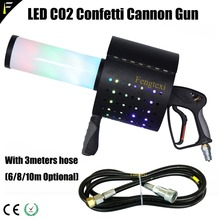 Портативный светодиодный Красочные RGB Co2 водный пистолет с конфетти Jet пушки стрелять эффект пистолет ручной конфетти спрей устройства 3 метра шланга