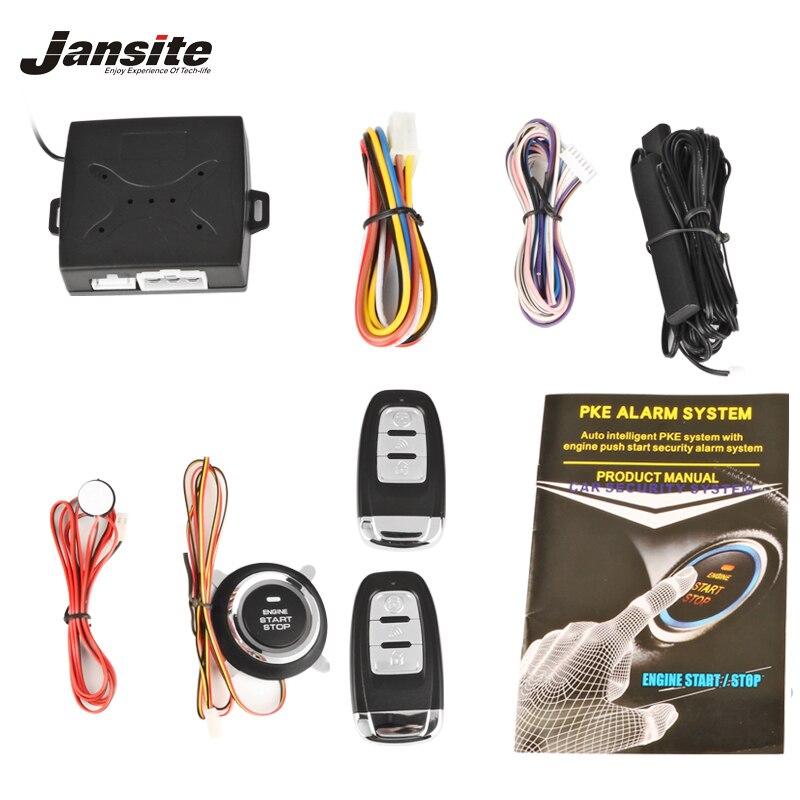 Jansite Universelle Intelligente alarme de voiture Moteur bouton-poussoir Commencer bouton d'arrêt Verrouillage interrupteur de contact Système D'entrée Sans Clé Système de Démarrage