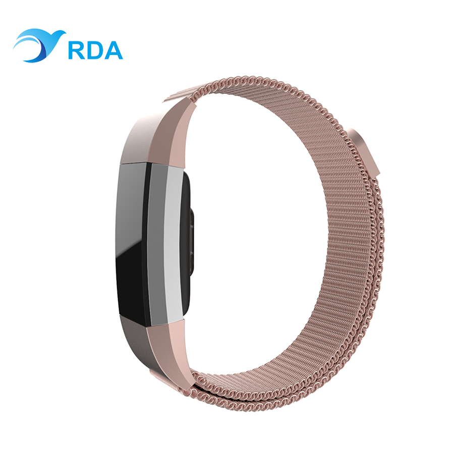 Magnetic Milanese Loop Adjustable Wrist Strap Bracelet Stainless Steel Watch Band Closure for Fitbit Charge 2 on AliExpress