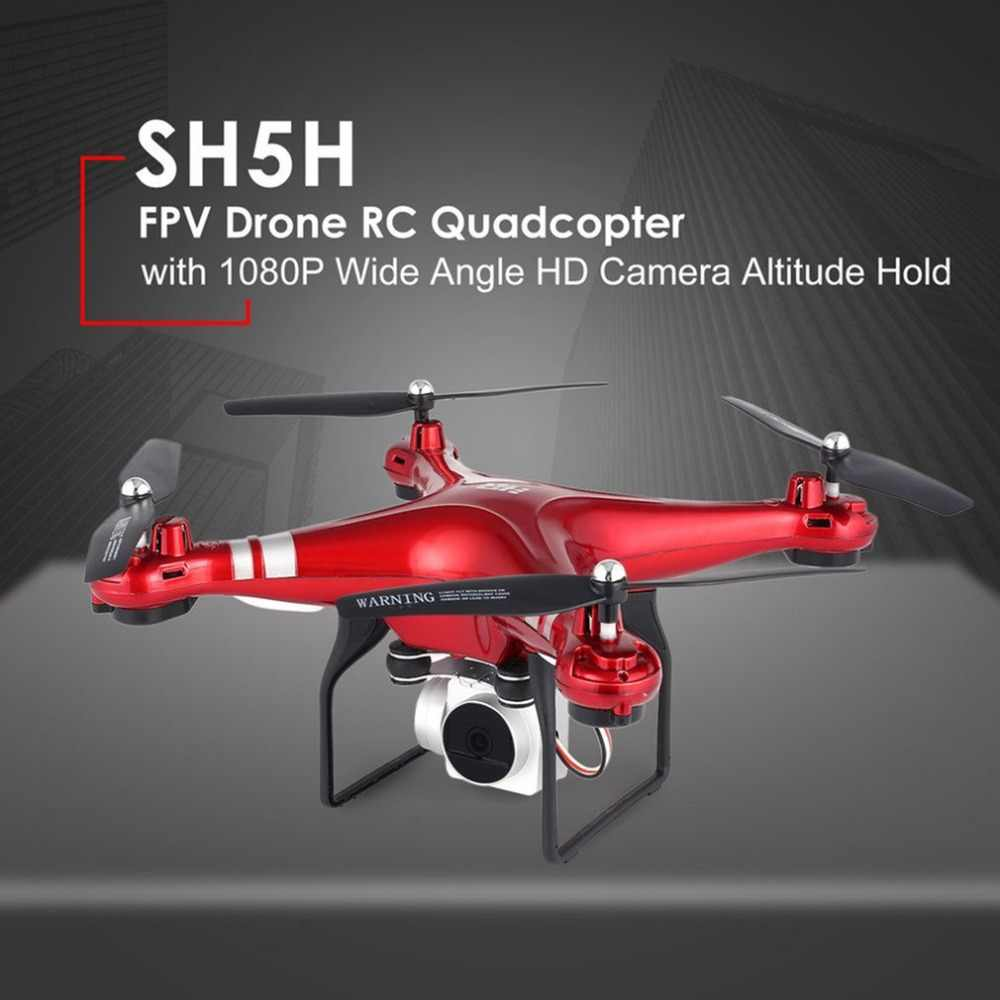 HR SH5H RC Дрон с камерой HD 720P 1080P широкоугольный Wi-Fi FPV селфи Дрон Безголовый режим g-сенсор Квадрокоптер VS JJRC H36