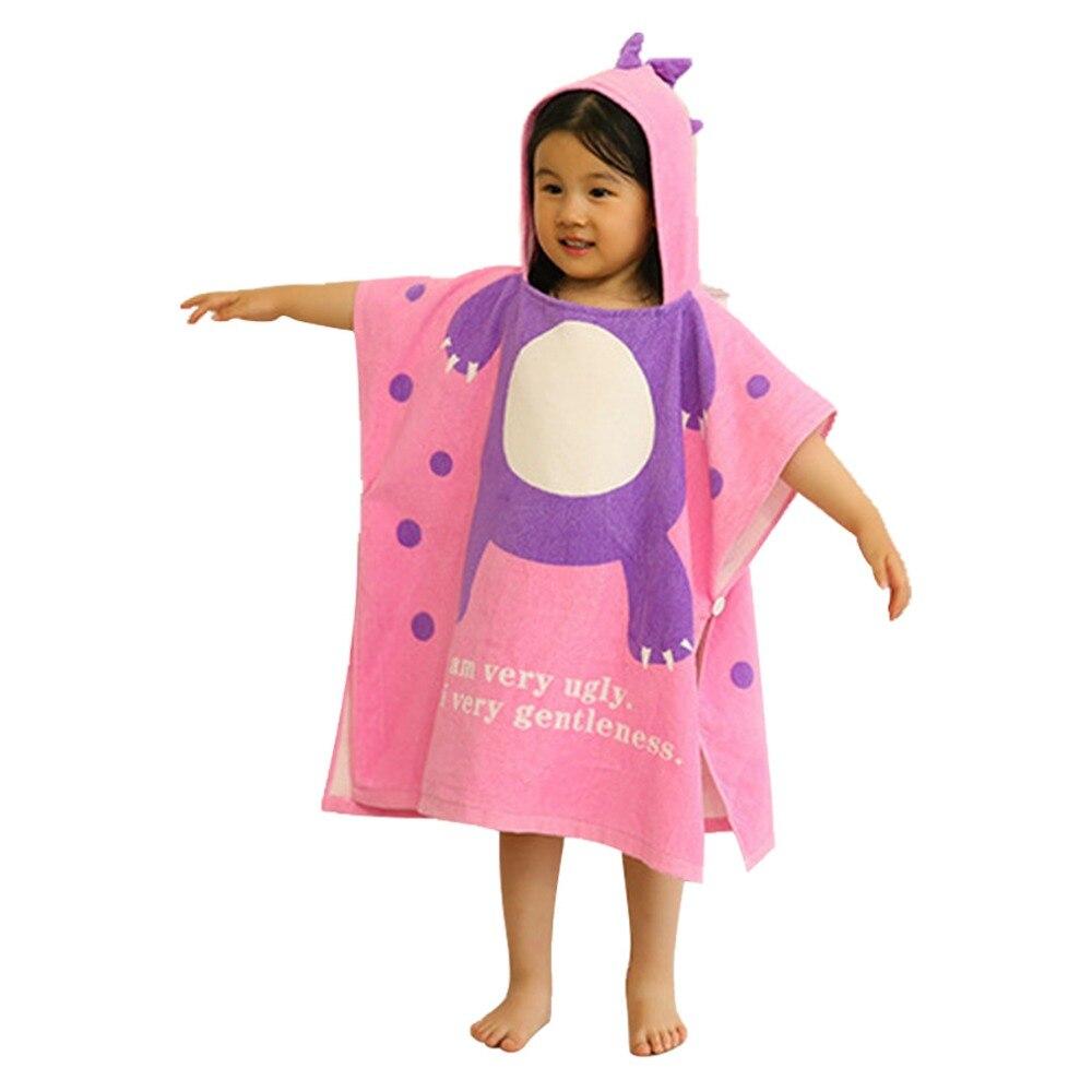 Hot Children's Swim Cloak Cape Towel Dinosaur Cute Fashion Two Colors Cape For Kids Child High Quality