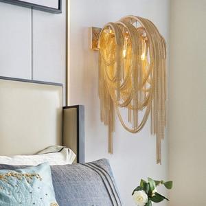 Image 1 - Italian Atlantis Luxury Chain Light Wall Lamps mirror light Stream sconce Wall Lights Bathroom light bedroom lamp For LOFT decor