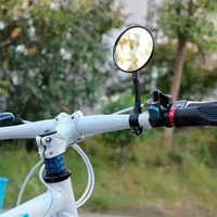 Bicycle Back Mirror Adjustable Rearview Cycling Rear View Convex Mountain Bike Handlebar Eye Blind Spot Mirror