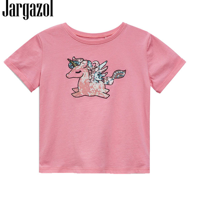 2dd3ac32 Jargazol Summer Top Girls T Shirt Unicorn Party Baby Girl Clothing Brand  2018 Toddler Cartoont Shirt